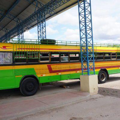 Unser lustiger Bus nach León