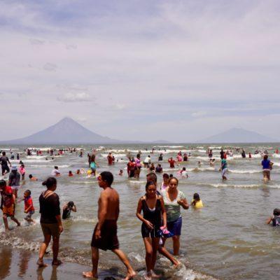 Und die Insel Ometepe im Hintergrund