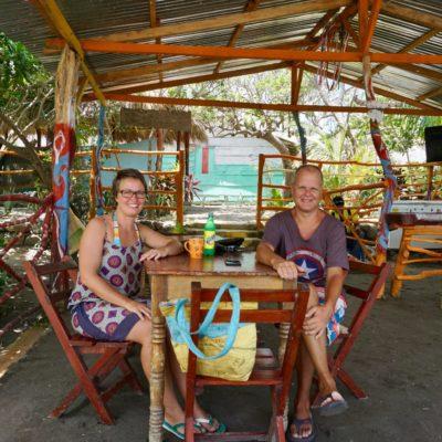In unserem Lieblingsrestaurant am Strand