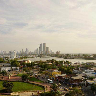 Blick von der Festung aufs moderne Cartagena