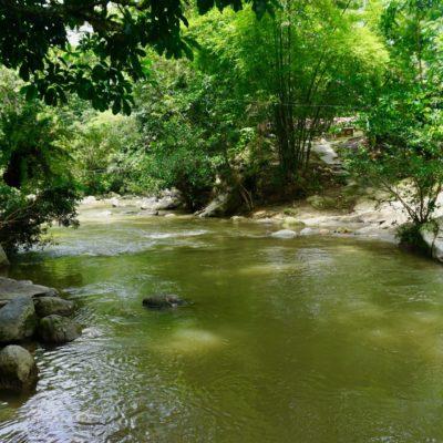 Unsere Unterkunft am Fluss
