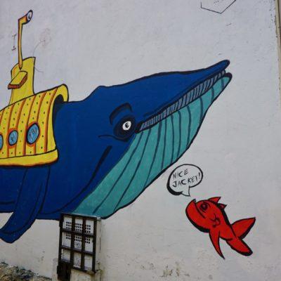 Unendlich viele trolle Wandbilder in Bogotá. Leider auch ebenso viele Schmierereien.