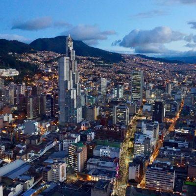 Bogotá bei Dämmerung