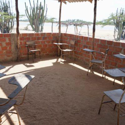 Freiluft Klassenzimmer in Camarones