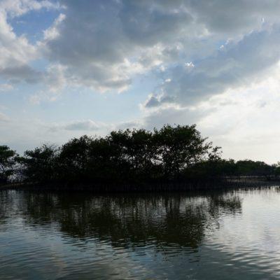 Fast allein in der riesigen Lagune. Toll