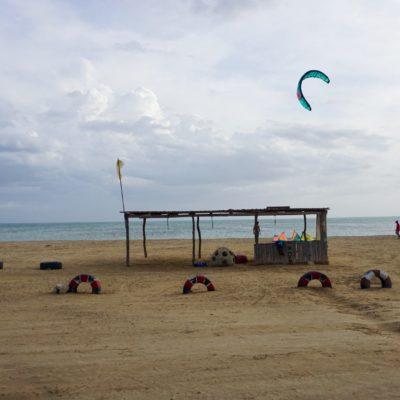 Ein Paradies für Kitesurfer. Super Wind