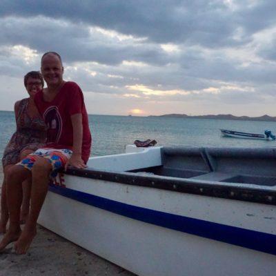Am Abend am Strand. Es hat uns super gut gefallen !