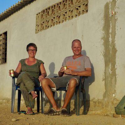Wüsten-Bierchen zum Sonnenuntergang