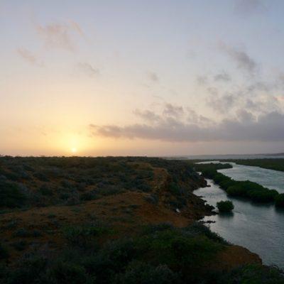 Sonnenaufgang über Punta Gallinas