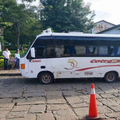 Unser Bus von Monguí nach San Gil