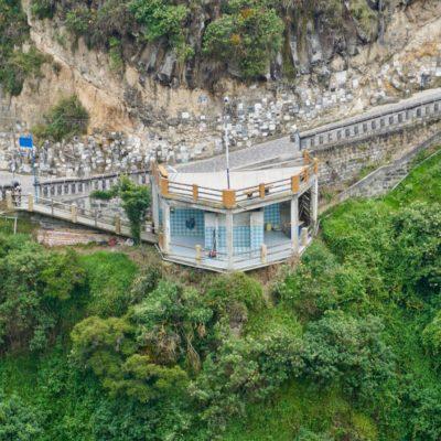 Santuario de Las LajasToilette mit toller Aussicht