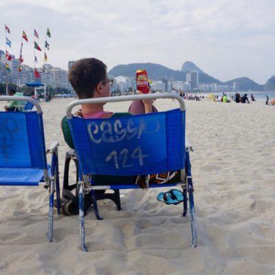 Auf ein Bierchen -nicht Caipi - an der legendären Copacabana