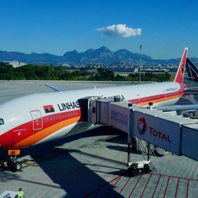 Unser Flieger von Rio nach Luanda ( Angola )