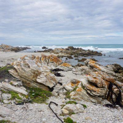 Kap Agulhas, wo sich der Atlantische und der Indische Ozean treffen