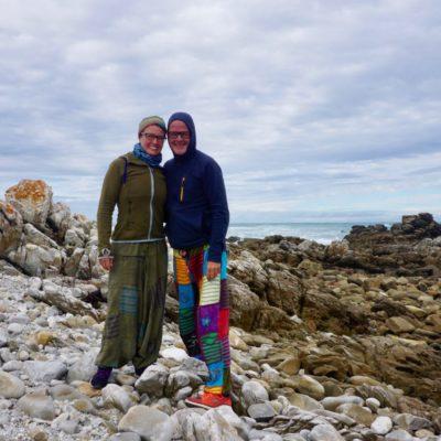 Kap Agulhas, wo sich der Atlantische und der Indische Ozean treffen, und auch Chrischtl und Winnie