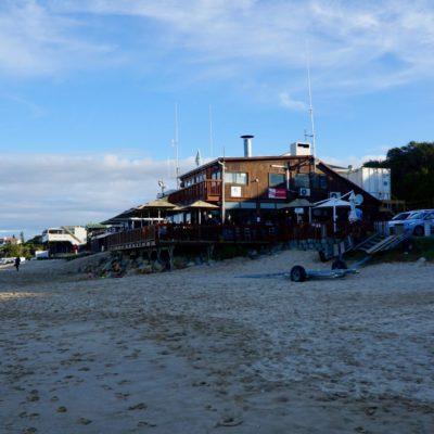 Imbiss-Bude am Strand