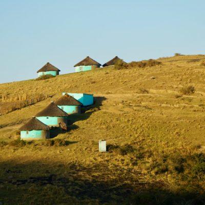 Rondavels, typische afrikanische Häuser