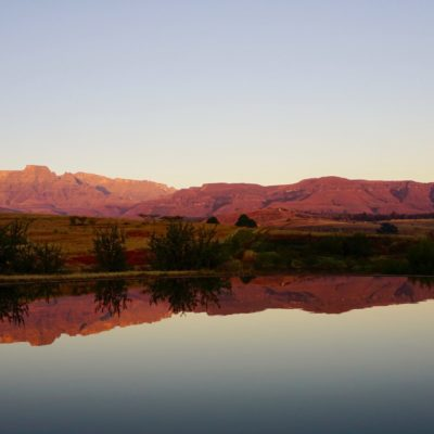 Sonnenaufgang am Natur-Pool.  Grandioses Licht !