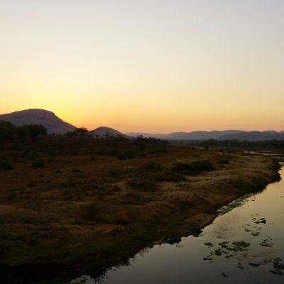 Sonnenuntergang im Krüger