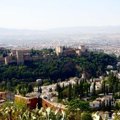 Aussicht auf die Alhambra