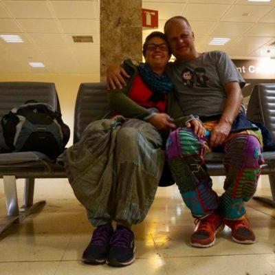 Am Flughafen von Girona
