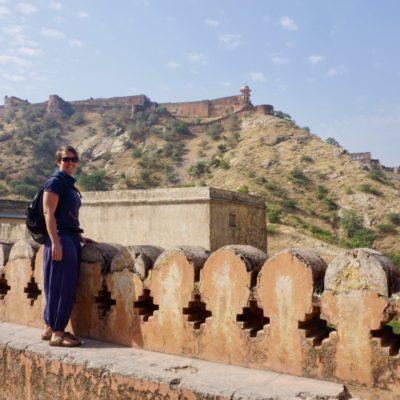 Amber Fort mit Blich auf Jaighar Fort