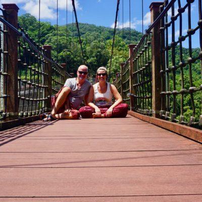 Alte Brücke in Wulai